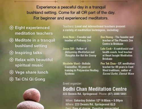 Meditation in Springwood, Brisbane, 12-Oct-2019 (FREE Event)